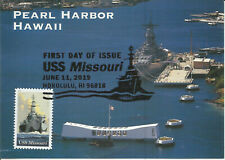 Uss Missouri Navy Battleship Usa Fdc Maximum Card