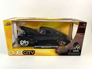 Jada Toys Dub City Old Skool 1940 PONTIAC (Black) 1:24 Die Cast VHTF 🚨🚨🚨