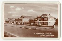 Playing Cards 1 Swap Card Vintage H WOODWARD Liverpool Art Deco Car Garage Sales
