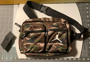 Nike Air Jordan Jumpman Green Camo Crossbody Shoulder Bag  #9A0292-650 New W/tag