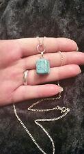 Belle pierre turquoise pépite gem Pendentif & Chaîne. Pagan, Wicca Sorcière,