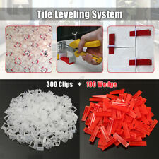 400X Tile Ceramic Leveling Spacer System Tool Wedges & Clips Flooring Kit 1mm