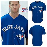 NEW Size XXL Majestic MLB Toronto Blue Jays Throwback Stitched Cool Base JERSEY