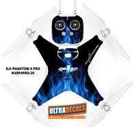 Blue Fire DJI Phantom 4 Pro Skin Wrap Decal Sticker Battery Body Ultradecal