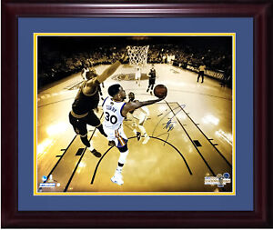 Stephen Steph Curry signed 20x24 Photo Framed Lebron Finals auto /30 Steiner Coa