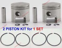 For YAMAHA Outboard Piston Kit 0.50 677-11636-00, Piston Ring 647-11610-20 X2