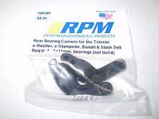 RPM 80382 REAR BLACK BEARING CARRIERS RUSTLER STAMPEDE SLASH 2WD NIP NEW