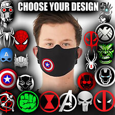 Marvel Avengers Face Mask Personalised Kids Adults Washable DC Comics Protective