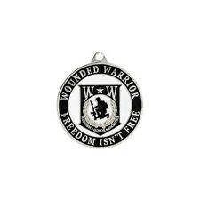Wounded Warrior Key Round Ring Freedom Isn't Free Military Key Chains