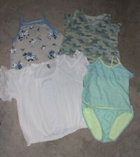 Justice Girls Clothing Lot (3) Tops And (1) Swimsuit Size 18/20