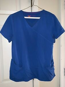 Ladies Nice Urbane Scrub Top Large - Pretty Blue  - GUC