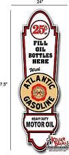 "(ATLA-LUBE-1) 24"" ATLANTIC LUBSTER LUBESTER GASOLINE GAS PUMP OIL TANK DECAL"