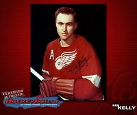 RED KELLY Signed Detroit Red Wings 8 x 10 Photo - 70222