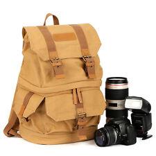 TARION Canvas DSLR Camera Backpack Bag Lens Case for Canon Nikon Sony Olympus
