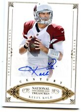 212 PANINI NATIONAL TREASURES ROOKIE RC AUTO CARDINALS KEVIN KOLB GOLD AUTO #/25