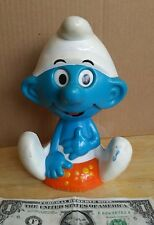 Smurfs 1983 Pull String Talking Boy Figure by Wallace Berrie Co