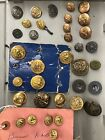 Vintage Military Button Lot New Hampshire Rhode Island France for sale