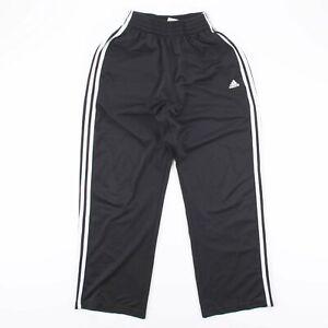 Vintage ADIDAS TRAINING Black Athletic 00s Track Pants Boys S