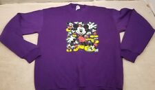 Vintage Mickey Mouse Purple Velva Sheen Graphic Tee Youth Size Xl ( 18-20) Usa