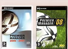 PREMIER MANAGER 2006 - 2007 & PREMIER MANAGER 08. 2 FOOTBALL GAMES FOR THE PC!!