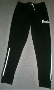 Men's Track Pants by Lonsdale Small in size BNWT Black with White Branding