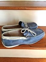 GBX Denim Top Sider MENS LEATHER DRESS LOAFERS OXFORDS DECK BOAT SHOES SIZE 11.5