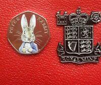 Beatrix Potter 2016 peter rabbit 50p Colour Uncirculated Coin