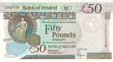 Bank of Ireland £50 REPLACEMENT Z Prefix - BYB ref: NI.241b - UNC.