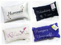 Luxury Embroidered Microfibre Bath Pillow for Neck Support w. Suction Cups