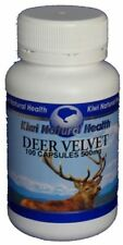Kiwi Natural Health New Zealand Deer Velvet 500mg Capsules ( 100 ) FREE SHIPPING