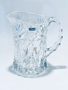 Magnificent 7.5 Inches Tall Diamond Cut Crystal G.Durand France Water Pitcher