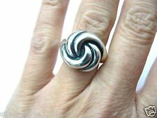 James Avery Beautiful Rare 3-D Swirl Knotted Dome Ring Retired Exc. Condition!