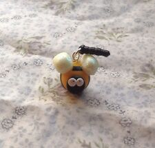 Bee Anti Dust Plug Stopper Mobile Phone Charm Cute Glow In The Dark