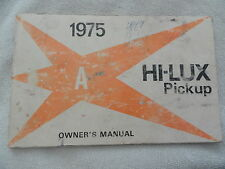 1975 Toyota HI - LUX  Truck  Owners Manual