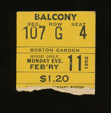 2nd NBA All-Star Game Ticket Stub - 1952 - Boston Garden - Paul Arizin MVP