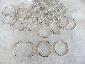 25 x 50mm EXTRA LARGE KEY RING SPLIT RINGS Metal Nickel Hoop Loop Key Holder