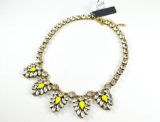 NWT J.Crew Crystal and neon chevron necklace