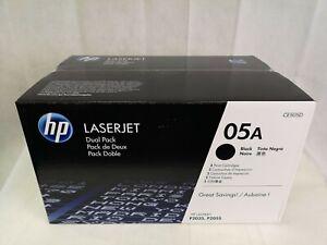 Genuine HP 05A Ce505a Ce505d Dual Pack Black Toner Cartridge