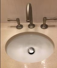 Nantucket Sinks Um-13x10-W 13-Inch by 10-Inch Oval Ceramic Undermount Vanity S.