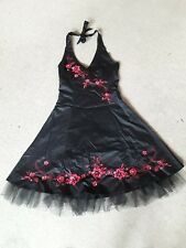 black halterneck dress from Krisp size 10