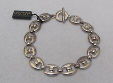 "Stunning OROTON 8"" Sterling Silver Link Bracelet with Original Tag 33 gr"