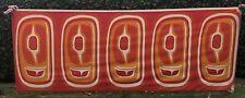 1970s FABRIC Silkscreen Alleniana Tlingit 11+ Ft. Mod NW Tribal Abstract MCM 70s