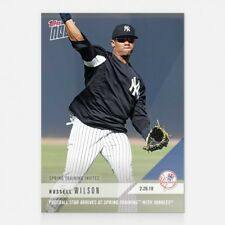 2018 TOPPS NOW #ST-6 RUSSELL WILSON FOOTBALL STAR ARRIVES AT SPRING TRAINING