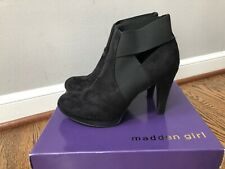 Madden Girl Devvi Ankle Boot Black Size 9 With Box