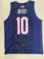 Kobe Bryant #10 USA Team Basketball Jersey Size S-3XL Basketball Shirts
