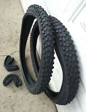 Pair of  26x2.6 Mountain Bike Bicycle Tires & Tubes Knobby Tread trek giant