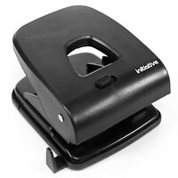 Heavy Duty Black Steel Paper 2 Hole Punch 40 Sheet Capacity Metal Home Office
