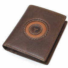 Men's Genuine Leather Credit Card Wallets ID Photo Holder Vintage Style Purse