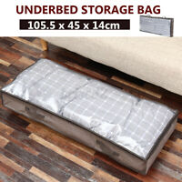 Foldable Quilt Storage Bag Clothes Blanket Sweater Zippered Underbed Organizer