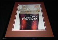 1966 Coca Cola Coke Vanilla Float 11x14 Framed ORIGINAL Vintage Advertisement